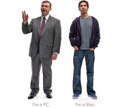PC (John Hodgman) and Mac (Justin Long)